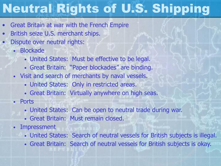 Neutral Rights of U.S. Shipping