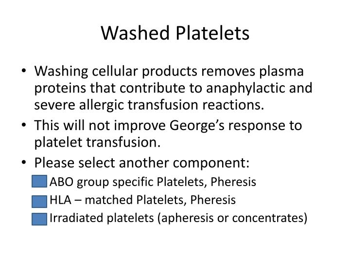 Washed Platelets