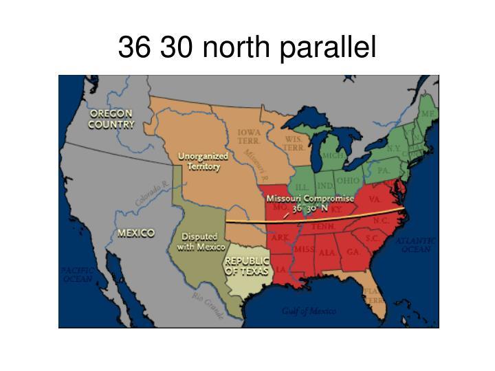 36 30 north parallel