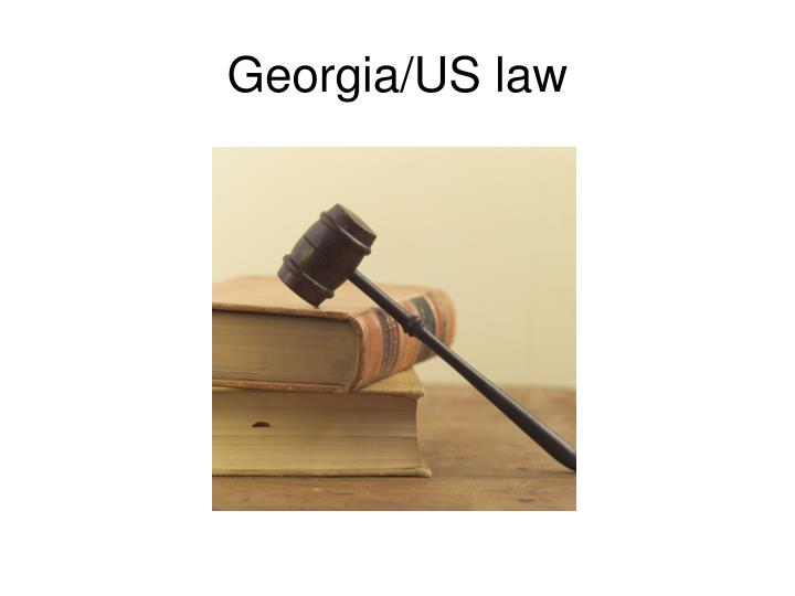 Georgia/US law