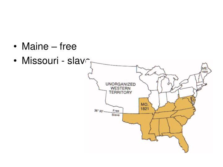 Maine – free