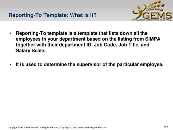 Reporting-To Template: What is it?