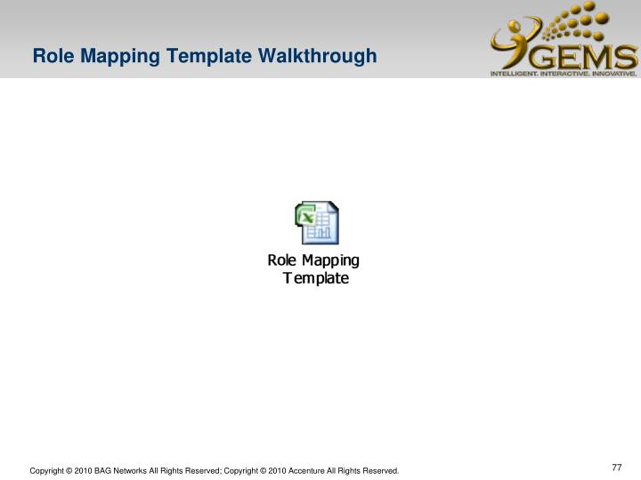 Role Mapping Template Walkthrough