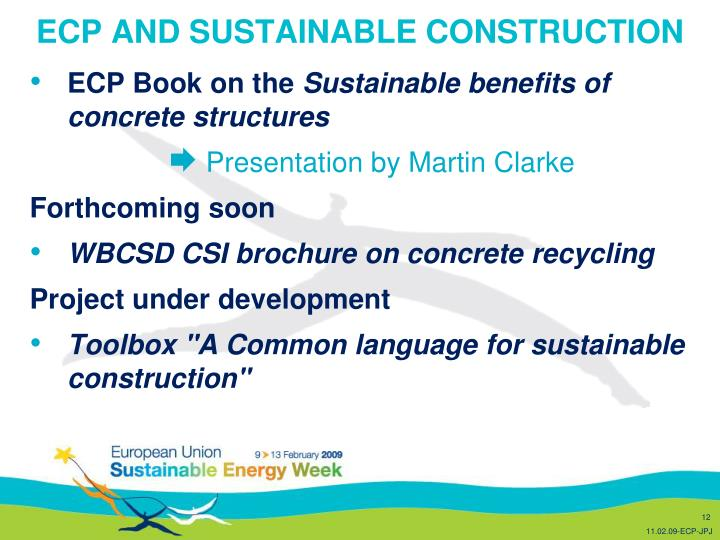 ECP AND SUSTAINABLE CONSTRUCTION