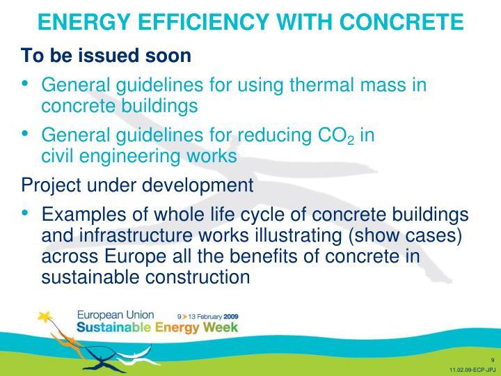 ENERGY EFFICIENCY WITH CONCRETE