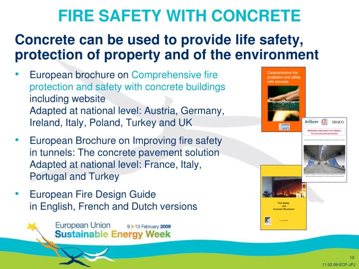 FIRE SAFETY WITH CONCRETE