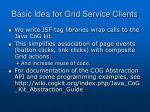 basic idea for grid service clients