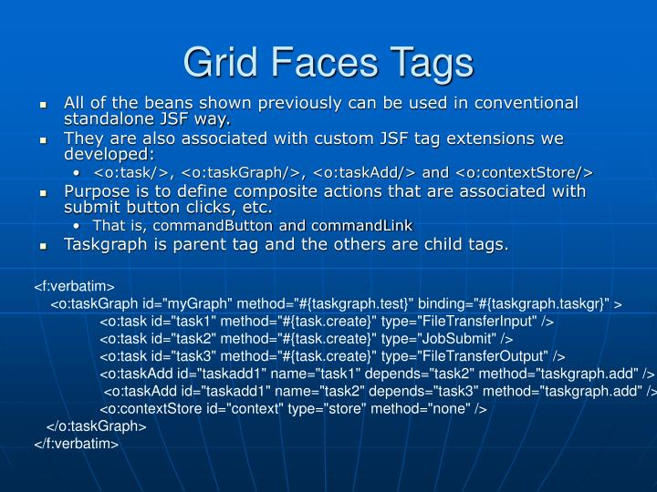 Grid Faces Tags