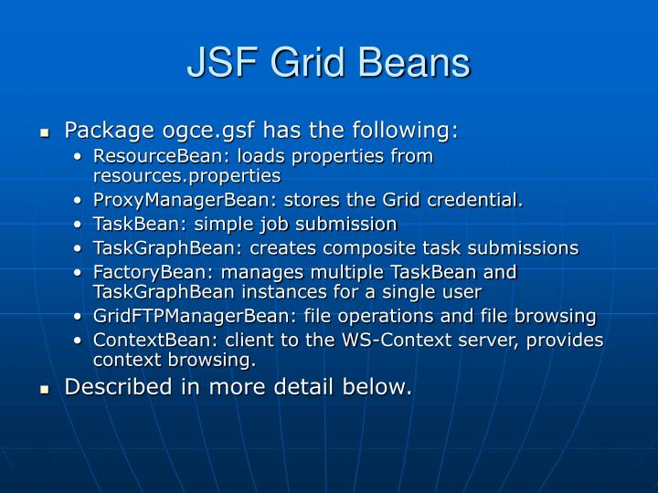 JSF Grid Beans