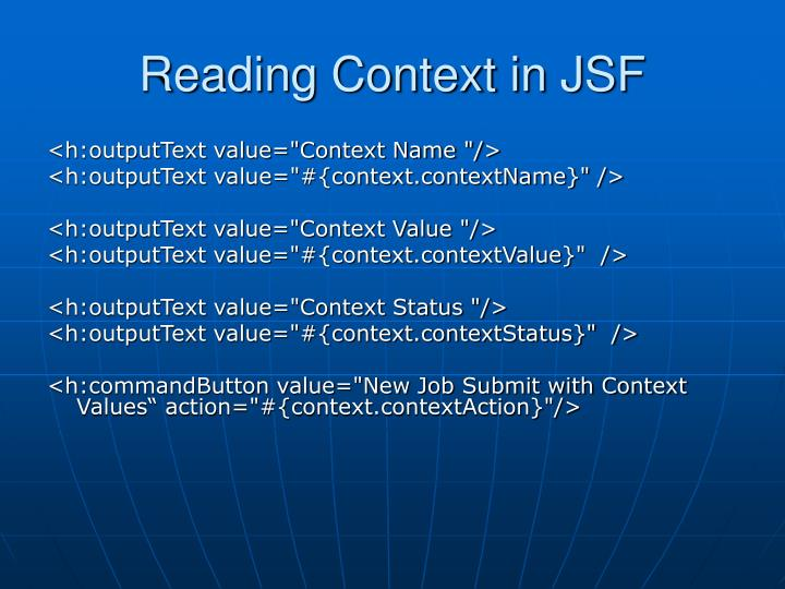 Reading Context in JSF