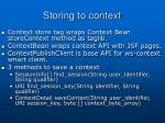 storing to context