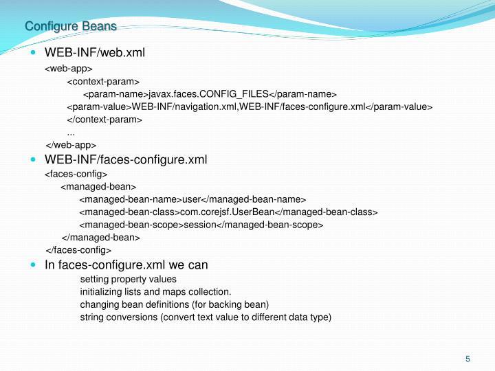 Configure Beans