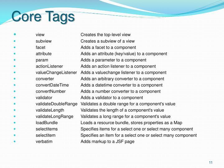 Core Tags