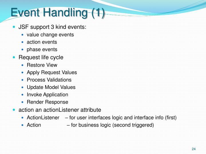 Event Handling (1)