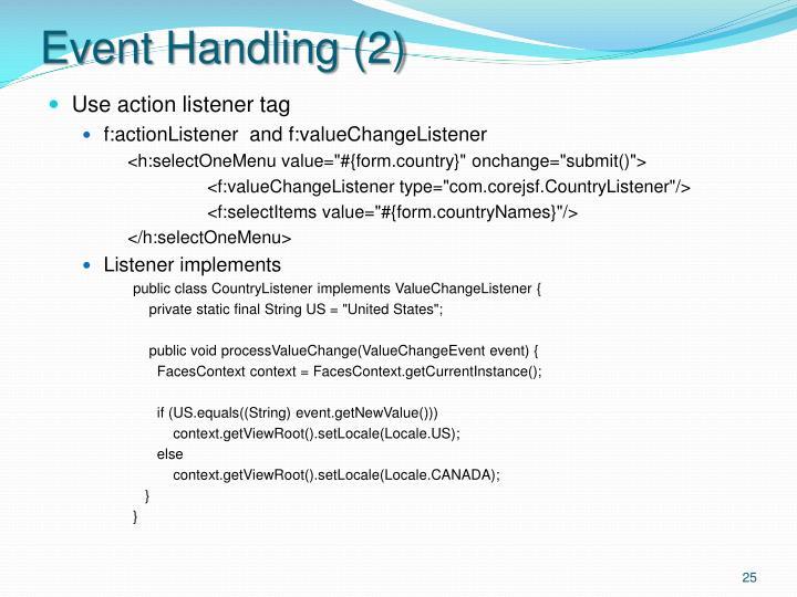 Event Handling (2)
