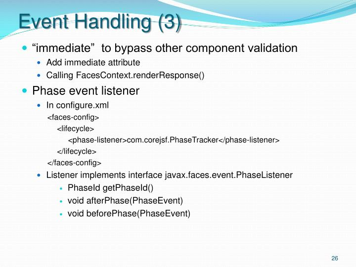 Event Handling (3)