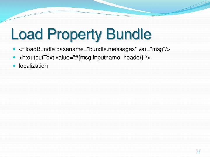 Load Property Bundle
