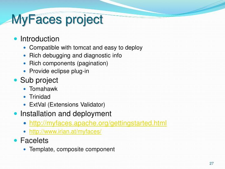 MyFaces project