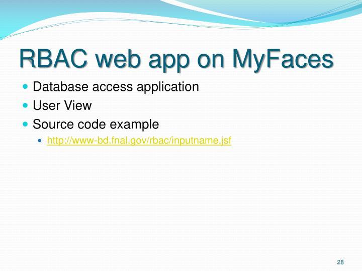 RBAC web app on MyFaces
