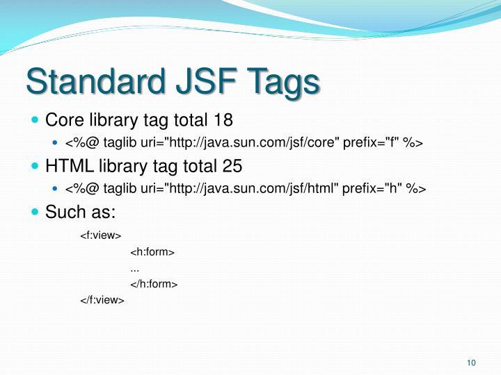 Standard JSF Tags