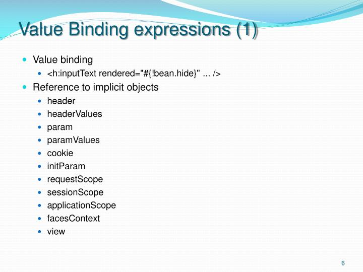 Value Binding expressions (1)