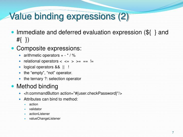 Value binding expressions (2)