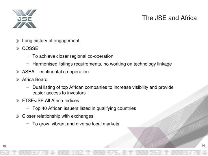 The JSE and Africa