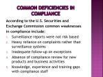 common deficiencies in compliance1