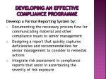 developing an effective compliance programme3