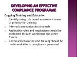developing an effective compliance programme5