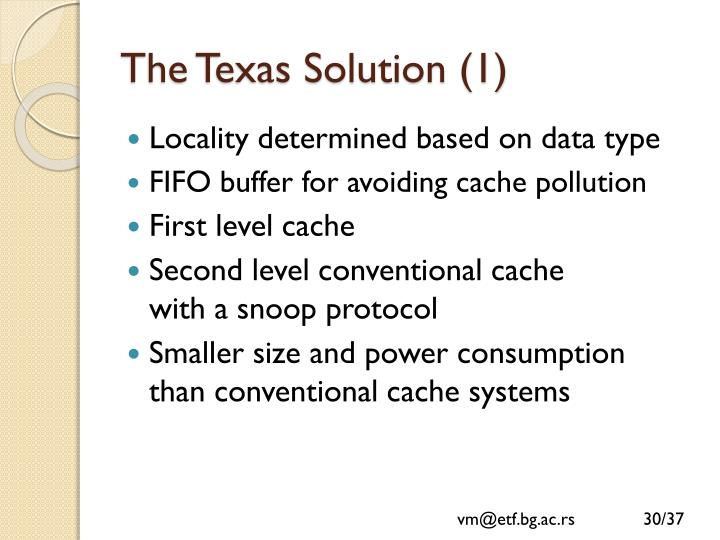The Texas Solution (1)