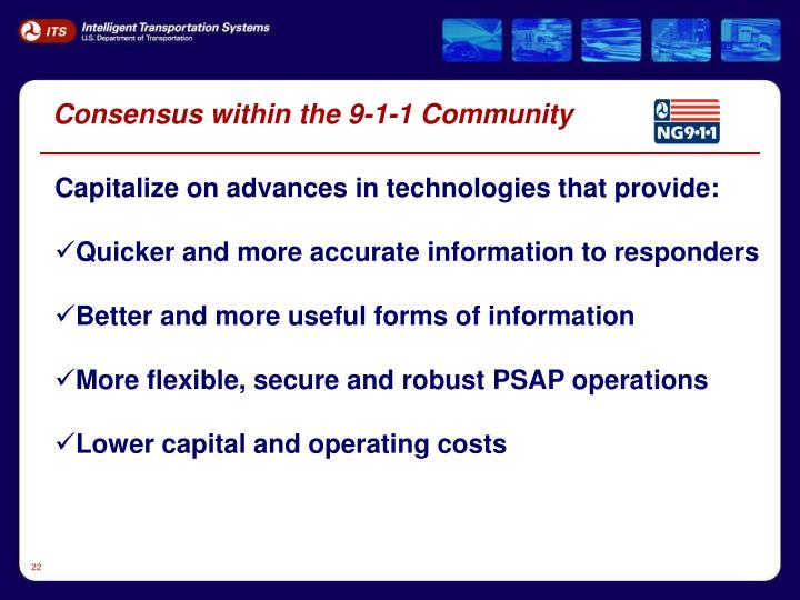 Consensus within the 9-1-1 Community