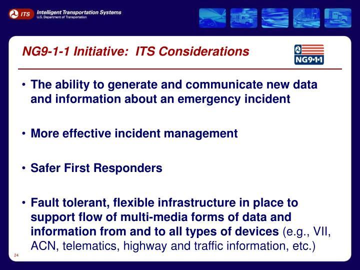 NG9-1-1 Initiative:  ITS Considerations