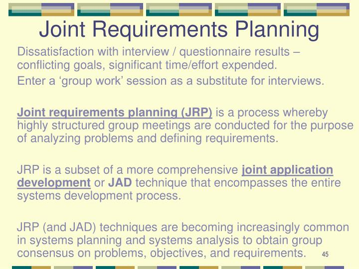 Joint Requirements Planning
