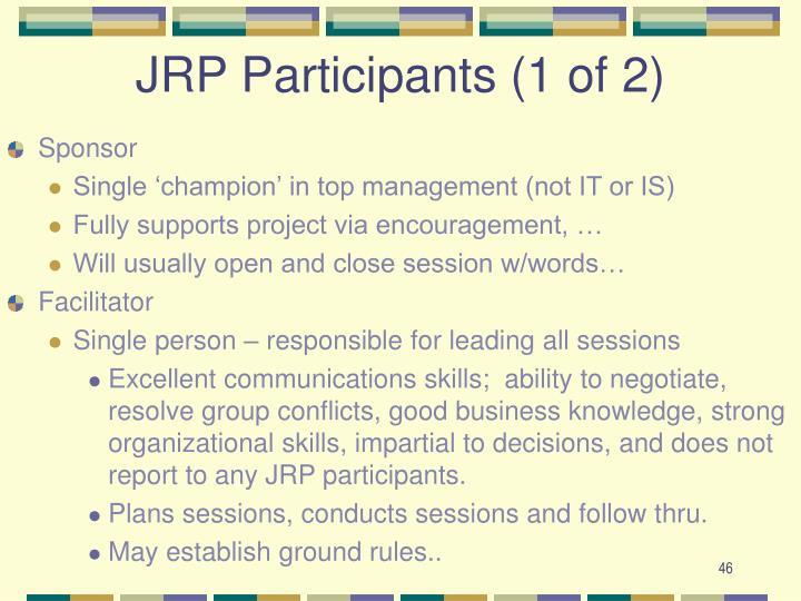 JRP Participants (1 of 2)