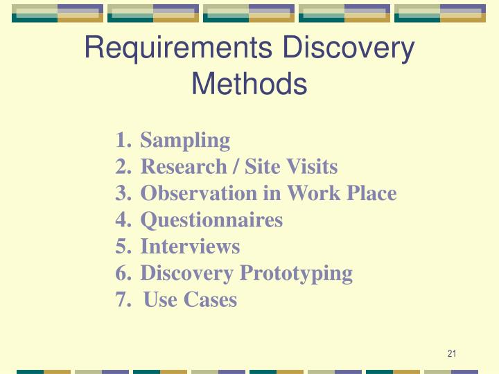 Requirements Discovery Methods