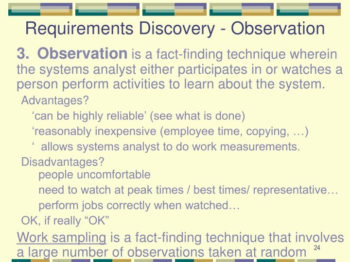 Requirements Discovery - Observation