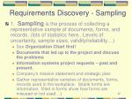requirements discovery sampling