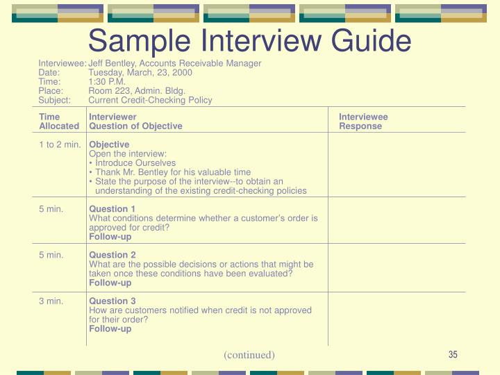 Sample Interview Guide