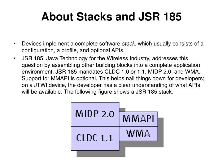 About Stacks and JSR 185