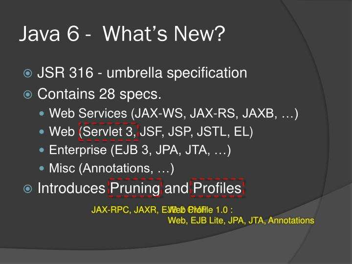 Java 6 -  What's New?