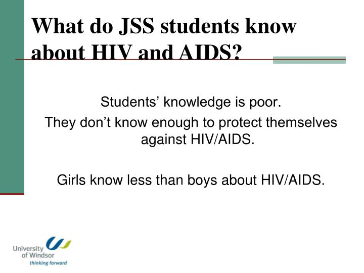 What do JSS students know about HIV and AIDS?