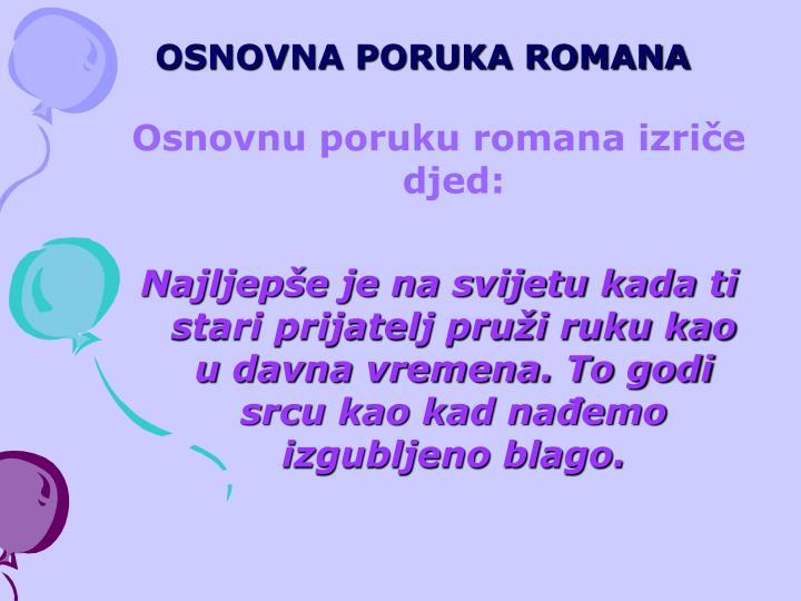 OSNOVNA PORUKA ROMANA