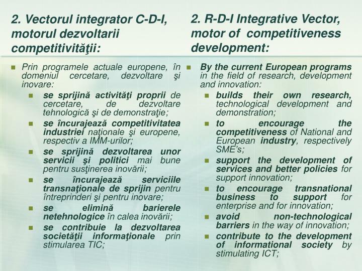 Prin programele actuale europene, în domeniul cercetare, dezvoltare şi inovare: