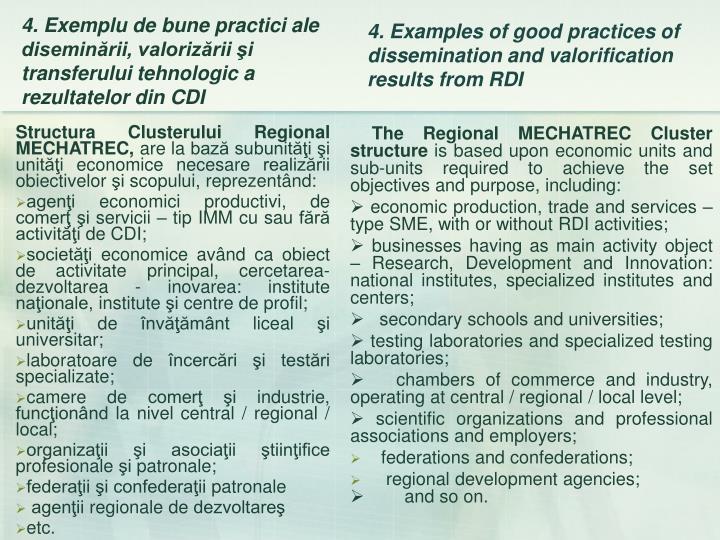 Structura Clusterului Regional MECHATREC,