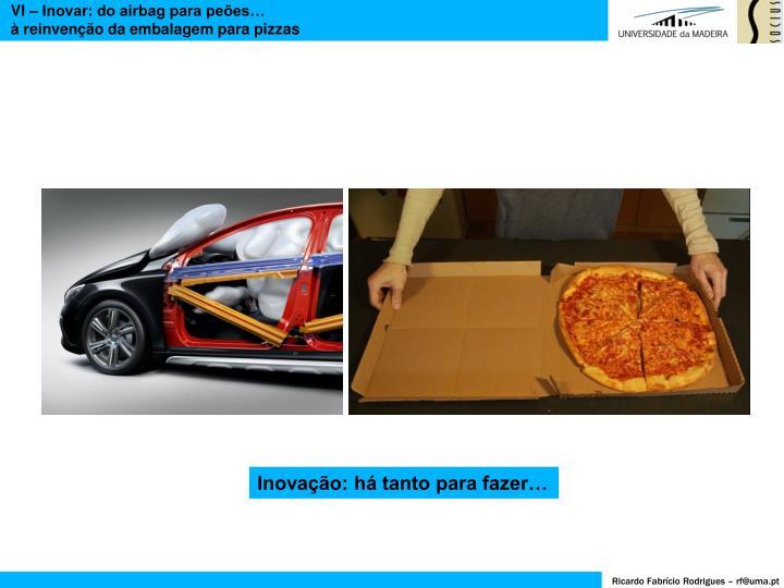 VI – Inovar: do airbag para peões…