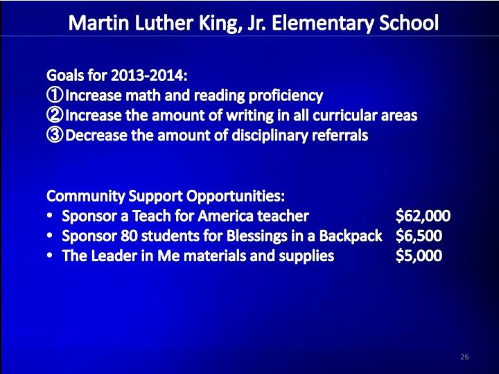Martin Luther King, Jr. Elementary School