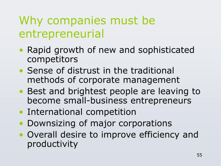 Why companies must be entrepreneurial