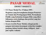 pasar modal money market