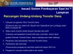 rancangan undang undang transfer dana